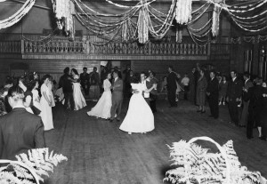 Dancing at the Odd Fellows Hall