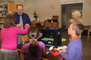 3D printer visits the library.